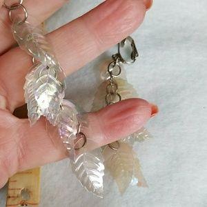 "unknown Jewelry - 3-1/2""inch long Clip-on DANGLE  earrings Vintage"